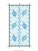 Dreidel Bookmark Template