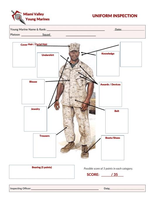 Uniform Inspection Sheet printable pdf download