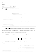 Consent To Entry Of Decree Form - Montana District Court