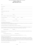Application For Preliminary Plat
