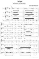 Leonard Bernstein - Tonight - De La Pelicula (west Side History) Sheet Music