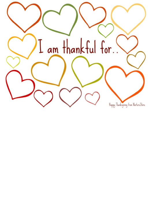 Thanksgiving Thankful Card Template