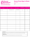 House Party Sign In Sheet Template