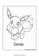 Pokemon Coloring Sheet - Eevee