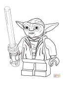Lego Star Wars - Master Yoda Coloring Page