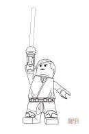 Lego Star Wars - Luke Skywalker Coloring Page
