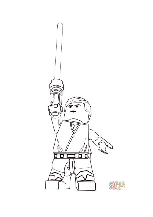 Lego Star Wars - Luke Skywalker Coloring Page printable ...