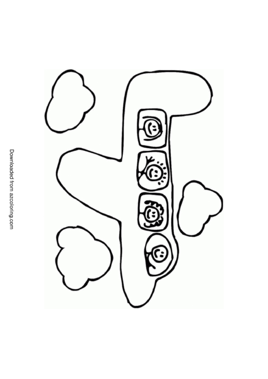 Airplane Coloring Page Printable pdf
