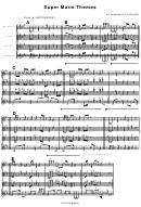 Super Mario Themes For Saxophone Trio/quartet