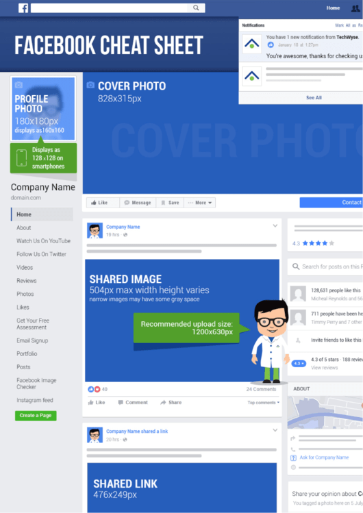 Top Facebook Cheat Sheets free to download in PDF format