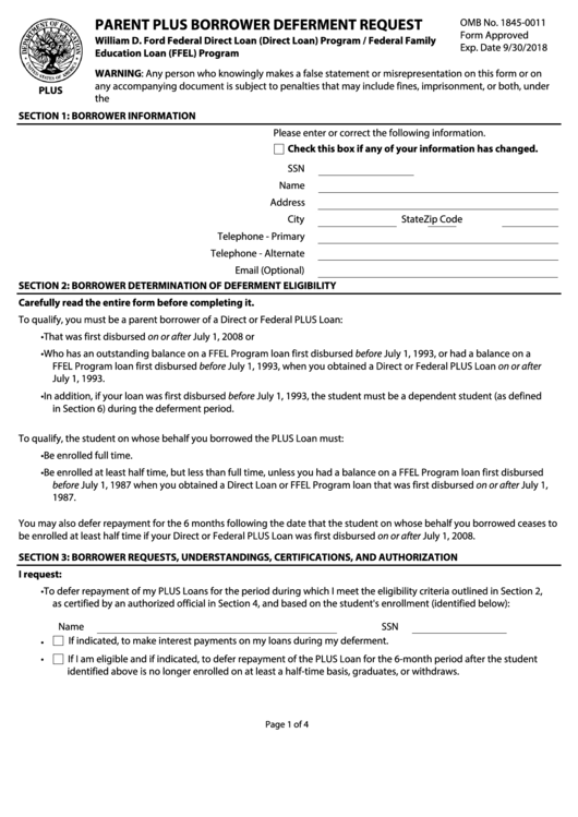 Top 25 Loan Deferment Form Templates free to download in PDF