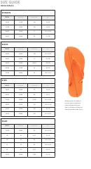 Havaianas Shoe Size Chart
