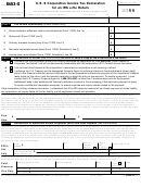 Form 8453-s - U.s. S Corporation Income Tax Declaration For An Irs E-file Return