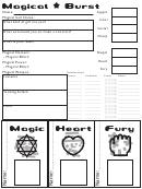 Magical Burst Character Sheet