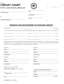 Request For Appointment Of Process Server Form