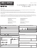 Social Security Direct Deposit Sign Up Form