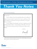 Thank You Notes Samples