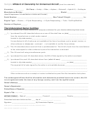 Sample Affidavit Of Ownership For Unmanned Aircraft