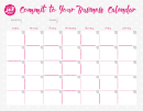 Commit To Your Business Calendar Template With To Do List