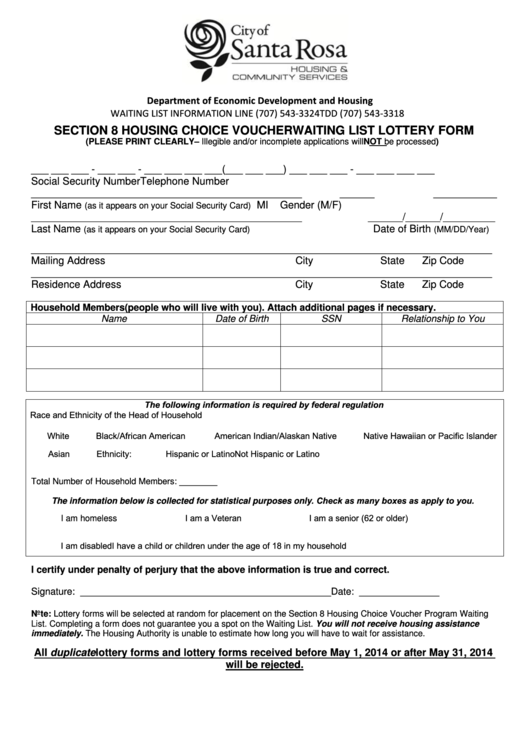 Top Section 8 Voucher Form Templates free to download in PDF, Word ...