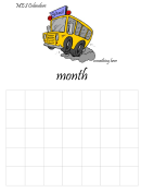 School Monthly Calendar Template