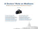 A Doctors' Note On Medicare