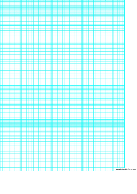 Graph Paper (blue On White)