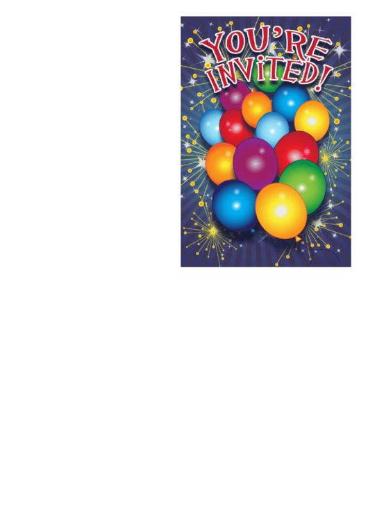 Invitation Template Printable pdf