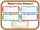 Dinner Planner Template