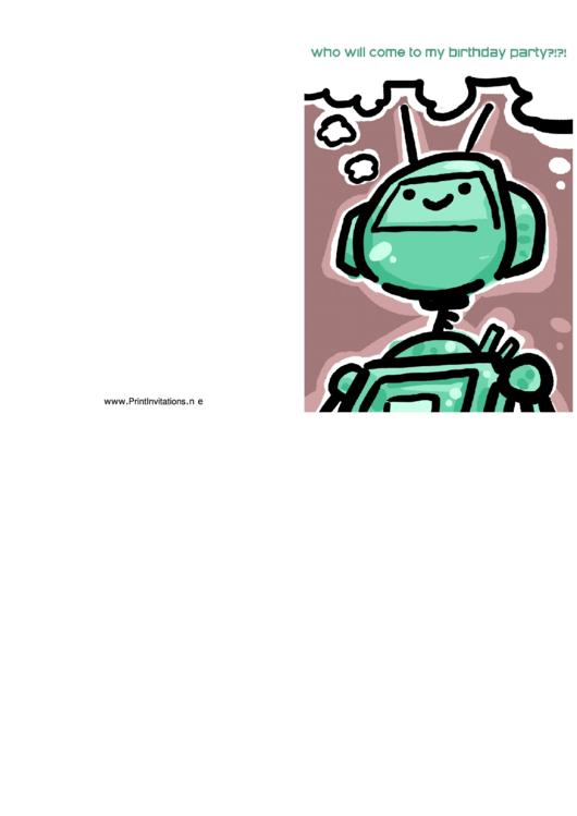 Birthday Invitation Template Printable pdf