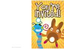 Invitation Templates Printable pdf