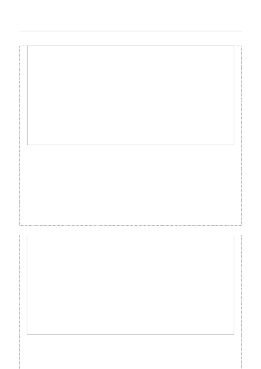 Blank Writing Paper With Picture Box - Two Per Page