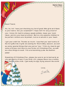 Santa Letter Template For A Girl