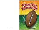 Football Invitation Card Template