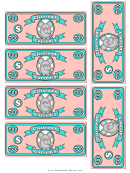 Classroom Currency Seven Hundred Dollar Bill Template