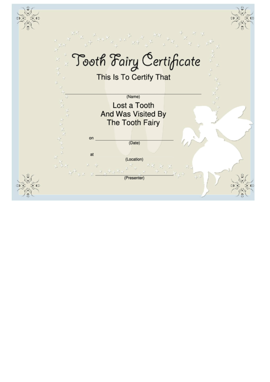 Top 8 Tooth Fairy Certificate Templates Free To Download In Pdf Format