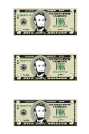 Five Dollar Bill Template