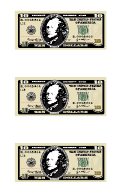 Small Ten Dollar Bill Templates