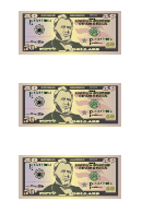 Small Fifty Dollar Bill Templates
