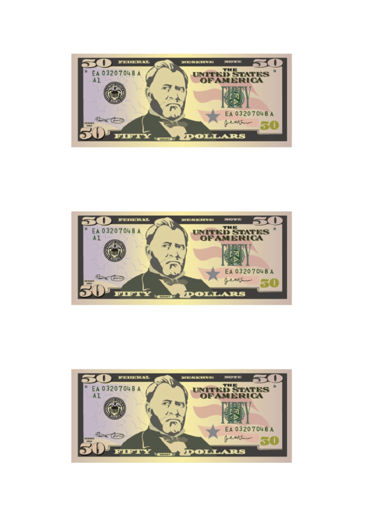 Top 6 50 Dollar Bill Templates Free To Download In Pdf Format