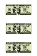 Small One Hundred Dollar Bill Templates