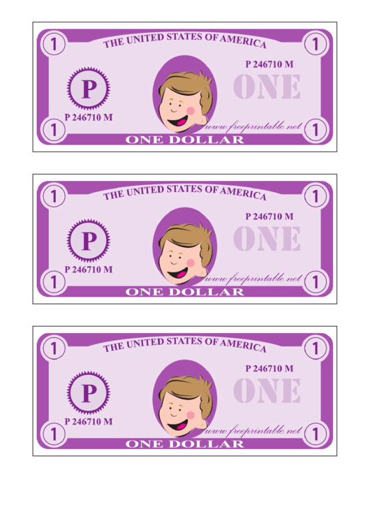 One Play-dollar Template - Purple
