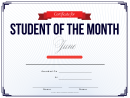 Student Of The Month Template - June