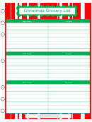 Christmas Grocery List Template
