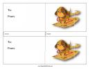 Walk The Dog Card Template