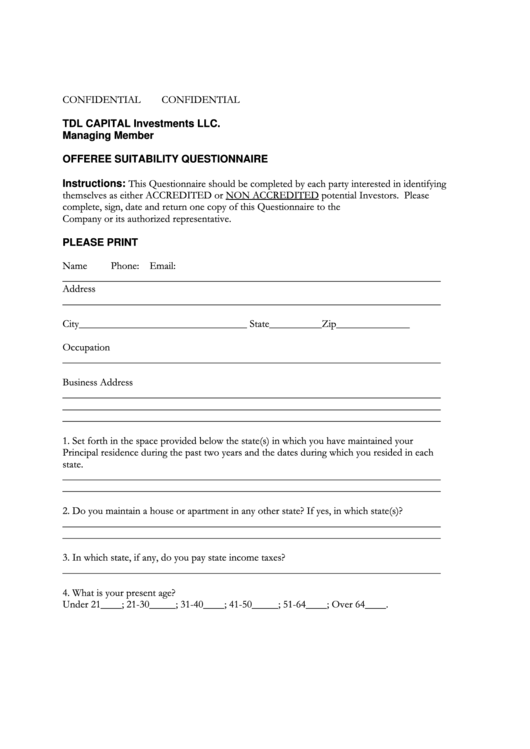 Top 18 Accredited Investor Form Templates free to download in PDF ...