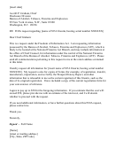 Foia Request Letter Template