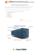 7-point Container Inspection Process Checklist Template