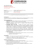 Database Coordinator Job Description