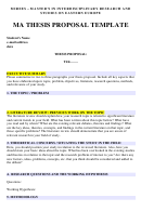 Ma Thesis Proposal Template